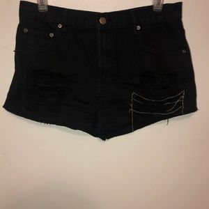 FOREVER 21 Denim Shorts with chain detail